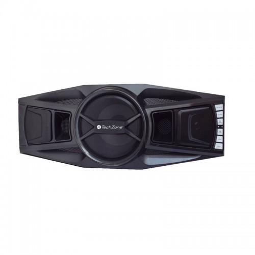 TechZone – Bocina portátil Multimedia Stereo con amplificador – Negro