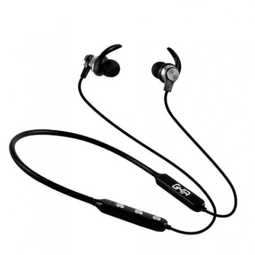 GHIA Auriculares Headphone Sport – Bluetooth – 10Mts – Batería 135 mAh – Negro
