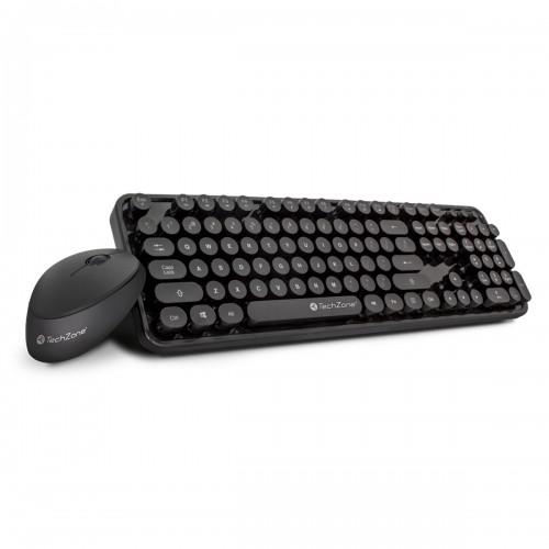 TechZone Teclado y Mouse Óptico Inalámbrico