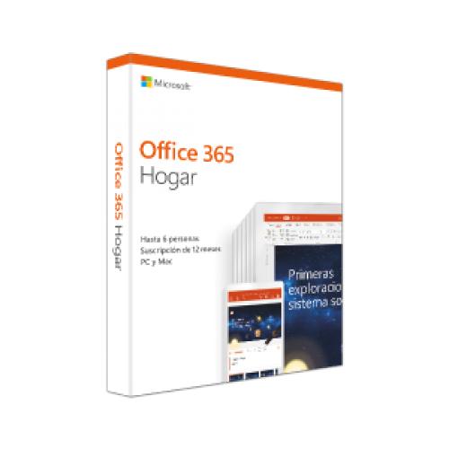 MICROSOFT OFFICE 365 HOGAR, 32-BIT/X64, SUBSCR, 1YR, 5U, ES