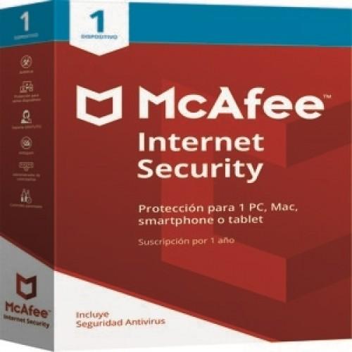 MCAFEE INTERNET SECURITY PARA 1 DISPOSITIVO