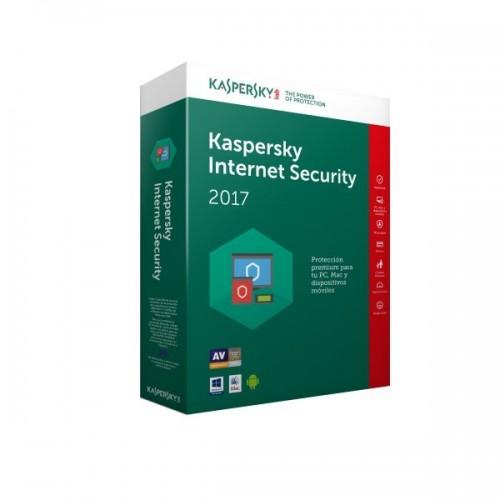ANTIVIRUS KASPERSKY INTERNET SECURITY 1 LICENCIA POR 1 A¥O