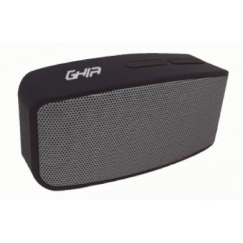 BOCINA BLUETOOTH W1 GHIA NEGRA / GRIS 3W RMS AUX 3.5MM RADIO FM MCIRO SD CARD