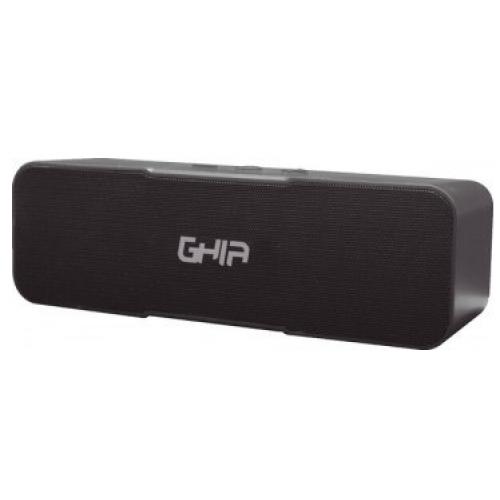BOCINA BLUETOOTH BX200N GHIA NEGRA /8W X2 RMS AUX / RADIO FM/ MICRO SD CARD/USB