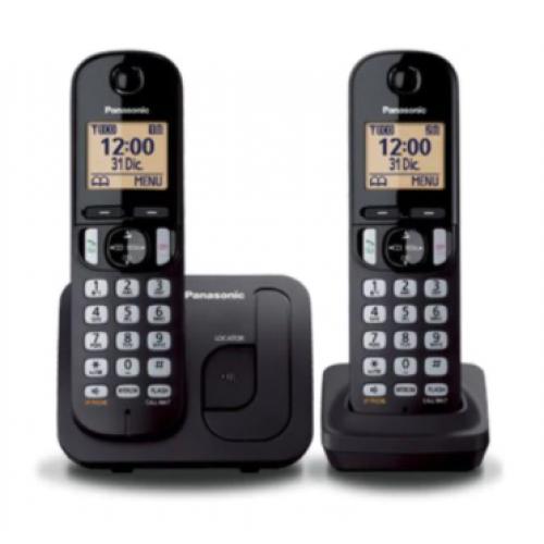 TELEFONO INALAMBRICO KX-TGC212 2 AURICULARES NEGRO.