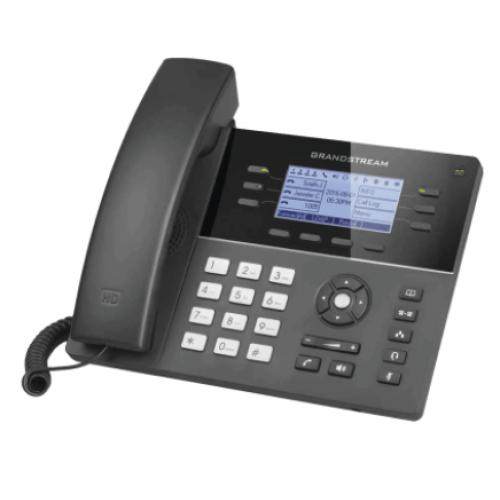 TELFONO IP WIFI GAMA MEDIA DE 6 LNEAS 3 CUENTAS SIP CON 4 TECLAS DE FUNCIN 24 TECLAS DE EXTENSIN BLF DIGITAL AUDIO HD Y CONFERENCIA DE 5 VAS POE CON FUENTE DE ALIMENTACION INCLUIDA.