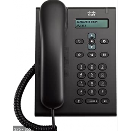 TELEFONO CISCO 3905 PROTOCOLO SIP DISPLAY COLOR NEGRO 2 PTOS 10/100