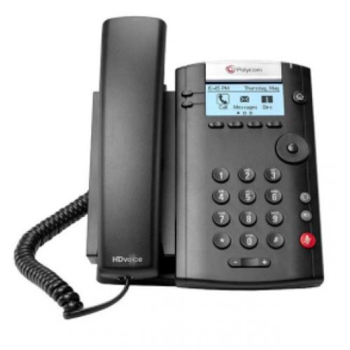 TELEFONO IP POLYCOM VVX 201 POE,PARA 2 LINEAS (NO INCLUYE FUENTE DE PODER)