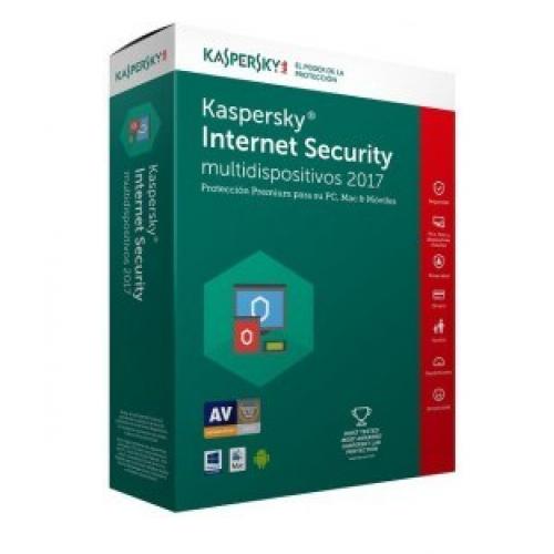 KASPERSKY INTERNET SECURITY – MULTIDISPOSITIVOS / 10 USUARIOS / 1 AÇ?O / CAJA