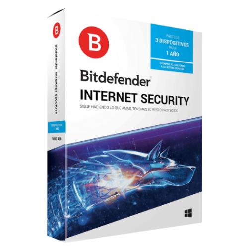 BITDEFENDER INTERNET SECURITY 3 USUARIO 1 AÑO DE VIGENCIA (CAJA)