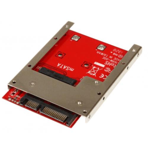 ADAPTADOR CONVERTIDOR DE SSD MSATA A SATA DE 2.5 PULGADAS – STARTECH.COM MOD. SAT32MSAT257