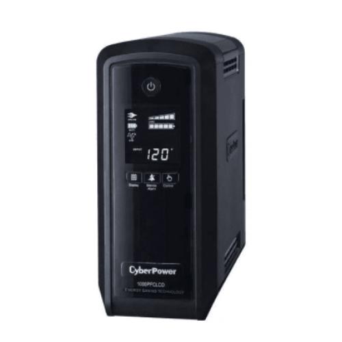 NOBREAK CYBERPOWER (CP1000PFCLCD) 1000VA / 600W LCD INTELIGENTE ONDA SENOIDAL PURA PFC AVR TORRE 10 Ç? NEMA 5-15R (5 RESPALDO Y 5 SUPRESION)