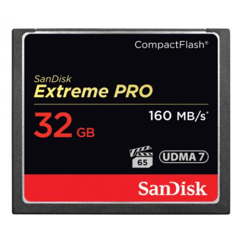 MEMORIA SANDISK 32GB COMPACTFLASH EXTREM PRO 160/150MBS VPG-20