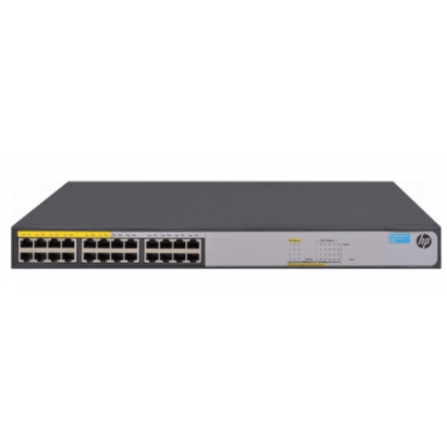 SWITCH HP ARUBA 24 PUERTOS GIGABIT 1420 24G POE124W RACK 12 PUERTOS POE NO ADMINISTRABLE QOSCAPA 2