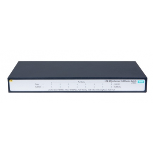 SWITCH HP ARUBA OFFICE CONECT 8 PUERTOS 10/100/1000 1420 8G POE 64W NO ADMINISTRABLE