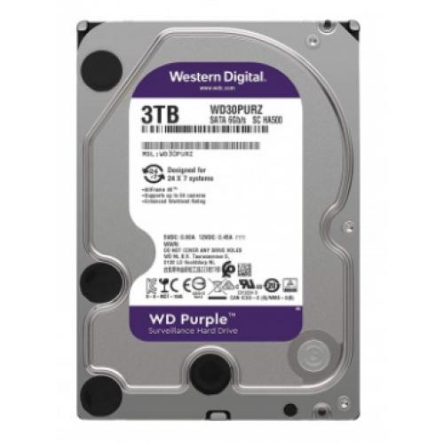 DD INTERNO WD PURPLE 3.5 3TB SATA3 6GB/S 64MB 24X7 PARA DVR Y NVR DE 1-8 BAHIAS Y 1-64 CAMARAS