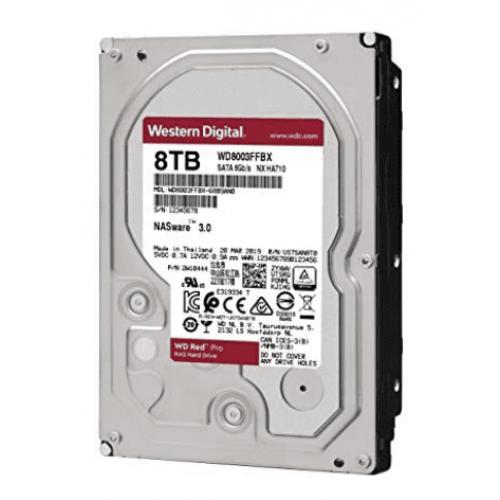 DD INTERNO WD RED PRO 3.5 8TB SATA3 6GB/S 256MB 7200RPM 24X7 HOTPLUG P/NAS 1-16 BAHIAS