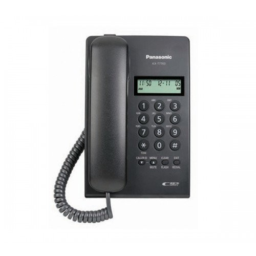 TELEFONO PANASONIC KX-T7703X-B ANALOGO CON IDENTIFICADOR (NEGRO)