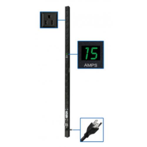 PDUMV15 TRIPP-LIT MONOFASICO CON MEDIDOR DIGITAL 1.44KW 15A 120V 61 CM 8 CONTACTOS 5-15R
