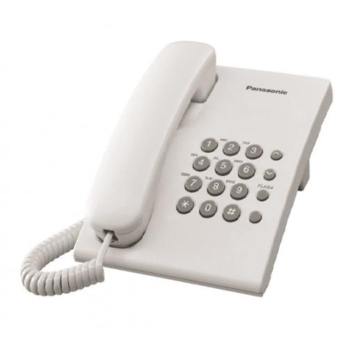 TELEFONO PANASONIC KX-TS500 ALAMBRICO BASICO UNILINEA SIN MEMORIAS (BLANCO)