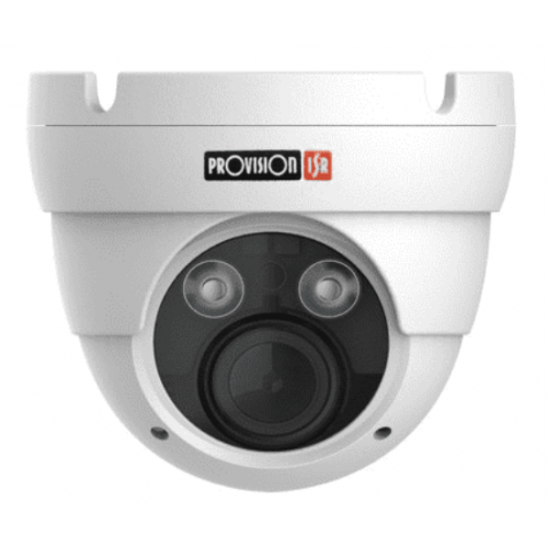 CAMARA PROVISION ISR DOMO IP 5 MP IR 25 MTS LENTE VARIFOCAL MOTORIZADO 3.3 A 12 MM SERIE S-SIGHT ONVIF POE H.265.