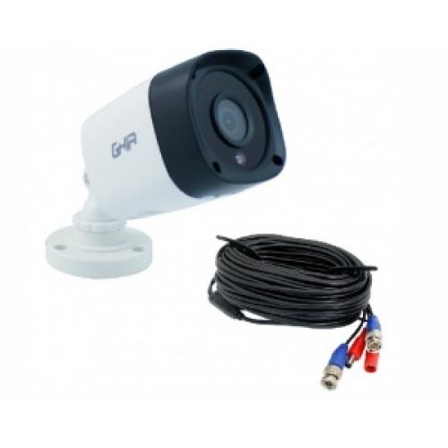 CAMARA GHIA TIPO BALA 1080P 4 EN 1 AHD/TVI/CVI/CVBS/ 2MP/LENTE DE 3.6MM/ IR 25MTS CON CABLE 18 METROS