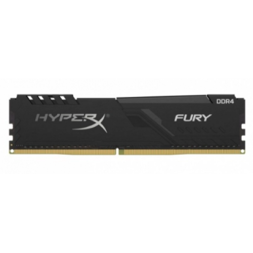 MEMORIA KINGSTON UDIMM DDR4 8GB 2666MHZ HYPERX FURY BLACK CL16 288PIN 1.2V C/DISIPADOR DE CALOR P/PC/GAMER/ALTO RENDIMIENTO