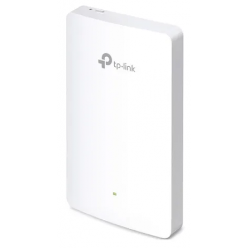 ACCESS POINT INALAMBRICO TP-LINK EAP225-WALL AC1200 BANDA DUAL 2.4GHZ 300MBPS Y 5GHZ 867MBPS 1 WAN 10/100 Y 3 LAN 10/100 1 POE POE 802.3AF/AT MONTAJE EN PARED-PLACA