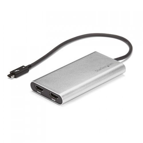 ADAPTADOR DE VIDEO THUNDERBOLT 3 A DOBLE HDMI – 4K 60HZ – COMPATIBLE CON MAC Y WINDOWS – USB C A HDMI – USB TIPO C – STARTECH.COM MOD. TB32HD24K60