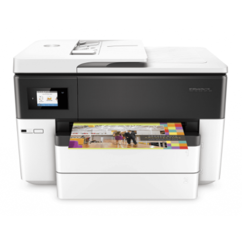 HPS MULTIFUNCIONAL INYECCION A COLOR HP 7740 OFFICEJET PRO AIO 34 PPM NEGRO – 18PPM COLOR / WIFI / DOBLE CARTA / DUPLEX / TABLOIDE