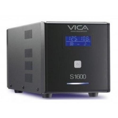 NO BREAK VICA 1600VA/900W PANTALLA LCD 8 TOMAS REGULADAS Y RESPALDADAS 3 AÇ?OS DE GARANTIA.