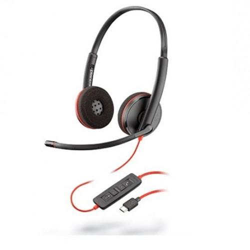 AUDIFONO Y MIC DE DIADEMA PLANTRONICS BLACKWIRE C3220 ALAMBRICA BINAURAL USB