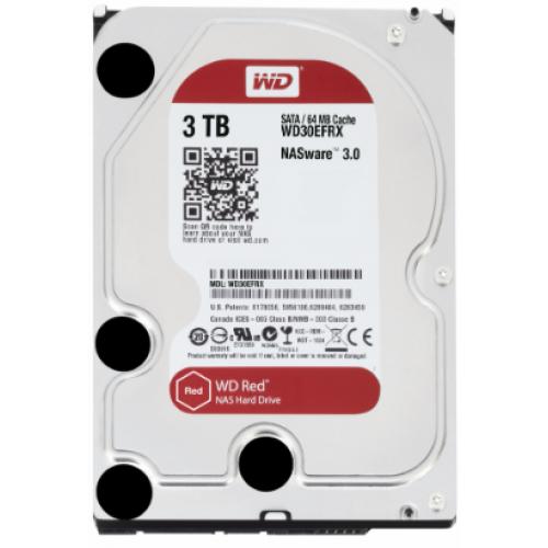 DD INTERNO WD RED 3.5 3TB SATA3 6GB/S 64MB 24X7 HOTPLUG P/NAS 1-8 BAHIAS