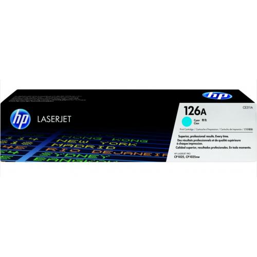 TONER HP CYAN 126A P/CP1025-1 000 PAGINAS