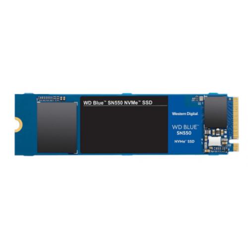 UNIDAD DE ESTADO SOLIDO SSD WD BLUE SN550 NVME M.2 500GB PCIE GEN3 X2 LECT 2400MB/S ESCRIT 1750MB/S