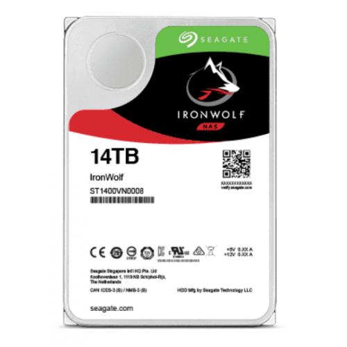 DD INTERNO SEAGATE IRONWOLF PRO 3.5 14TB SATA3 6GB/S 7200RPM 256MB 24X7 HOT-PLUG P/NAS 1-24 BAHIAS
