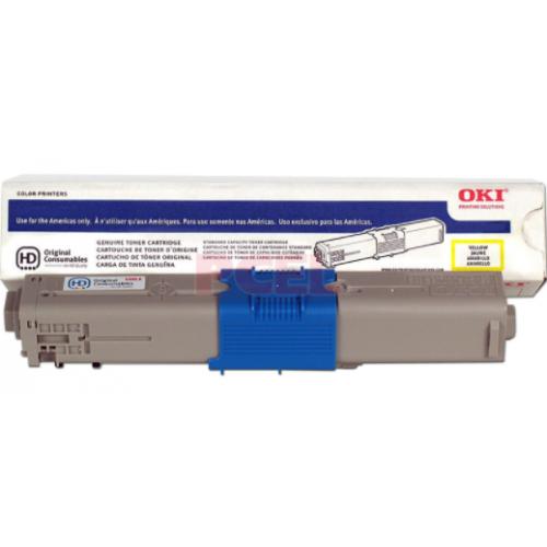 TONER OKI AMARILLO PARA C330DN MC361 MC561 MC362W MC562 3.5K PAG COBERTURA DEL 5 DE IMPRESION. SUSTITUYE 44469701