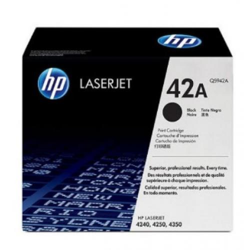 TONER HP NEGRO P/LASERJET 42A P/4240 4250 4350 Q5942A – 10000 PAGINAS