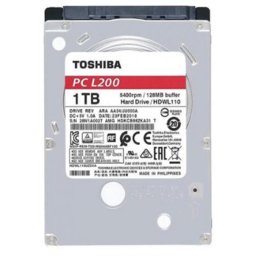 DD INTERNO TOSHIBA L200 2.5 1TB SATA3 6GB 128MB CACHE 5400RPM 7MM PARA NOTEBOOK PORTATIL LAPTOP