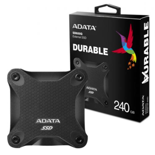 UNIDAD DE ESTADO SOLIDO SSD EXTERNO ADATA SD600Q 240GB USB 3.1 NEGRO WINDOWS/MAC/LINUX/ANDROID