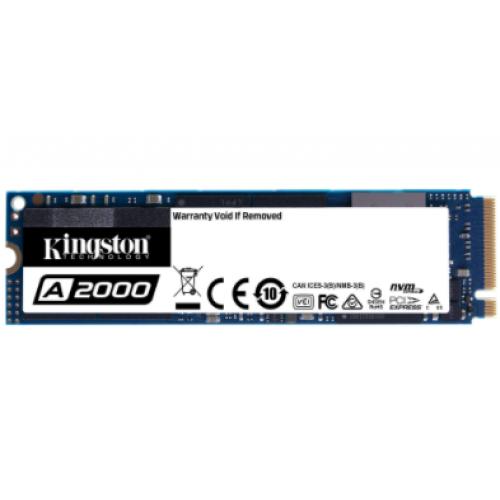 UNIDAD DE ESTADO SOLIDO SSD KINGSTON SA2000M8 250GB M.2 NVME PCIE LECT.2000 / ESCR.1100 MB/S