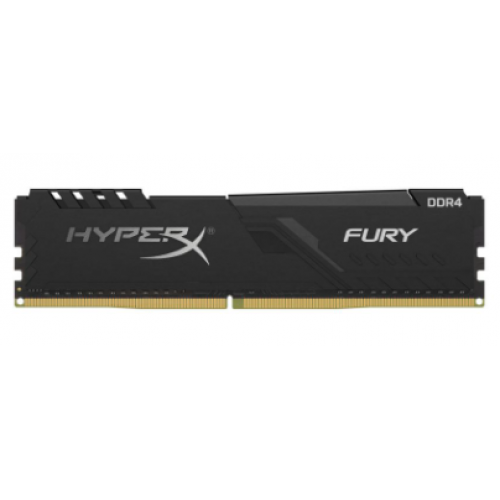 MEMORIA KINGSTON UDIMM DDR4 4GB 2666MHZ HYPERX FURY BLACK CL16 288PIN 1.2V C/DISIPADOR DE CALOR P/PC/GAMER/ALTO RENDIMIENTO