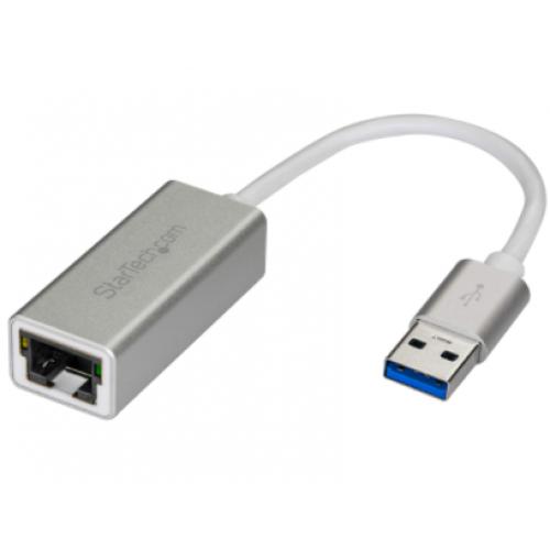 ADAPTADOR DE RED ETHERNET GIGABIT EXTERNO USB 3.0 – PLATEADO – IDEAL PARA MACBOOK CHROMEBOOK O TABLET – STARTECH.COM MOD. USB31000SA