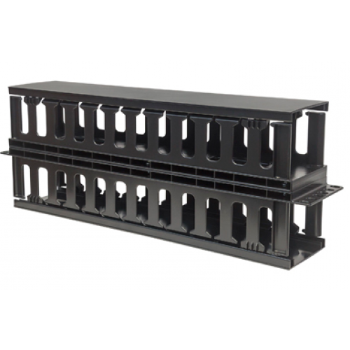 ORGANIZADOR HORIZONTAL DOBLE INTELLINET CABLE RJ45 RED UTP RACK 19 2U PLASTICO