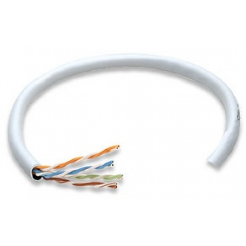 BOBINA CABLE UTP DE RED CAT5E INTELLINET 100% COBRE 24 AWG ROLLO 305 METROS SOLIDA COLOR BLANCO