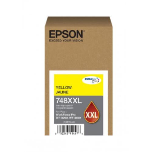 CARTUCHO EPSON MODELO T748XXL AMARILLO PARA WF-6090 WF-6590 ALTA CAPACIDAD