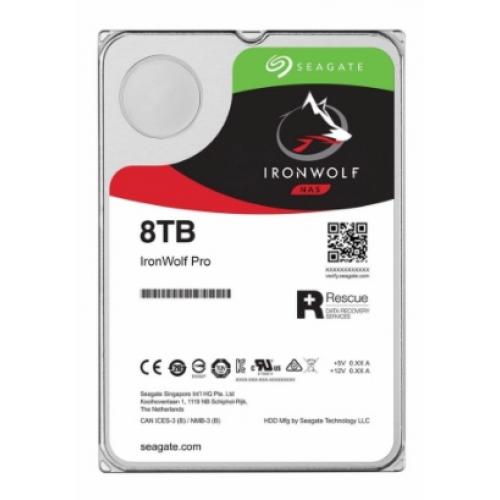 DD INTERNO SEAGATE IRONWOLF 3.5 8TB SATA3 6GB/S 7200RPM 256MB 24X7 HOT-PLUG P/NAS 1-8 BAHIA