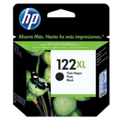 CARTUCHO DE TINTA HP 122 XL NEGRO ALTO RENDIMIENTO HASTA 480 PAGINAS CH563HL
