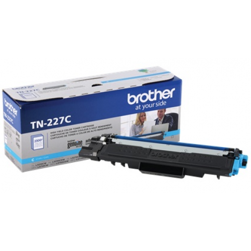 TONER BROTHER TN227C CIAN COMPATIBLE CON MFCL3710CW ALTO RENDIMIENTO HASTA 2 300 PAGINAS
