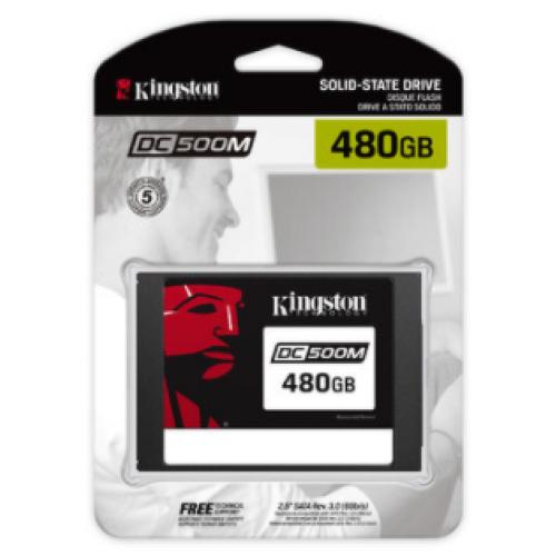 SSD PARA SERVIDOR KINGSTON DC500M, 480GB, SATA III, 2.5″, 7MM, 6GBIT/S SEDC500M/480G